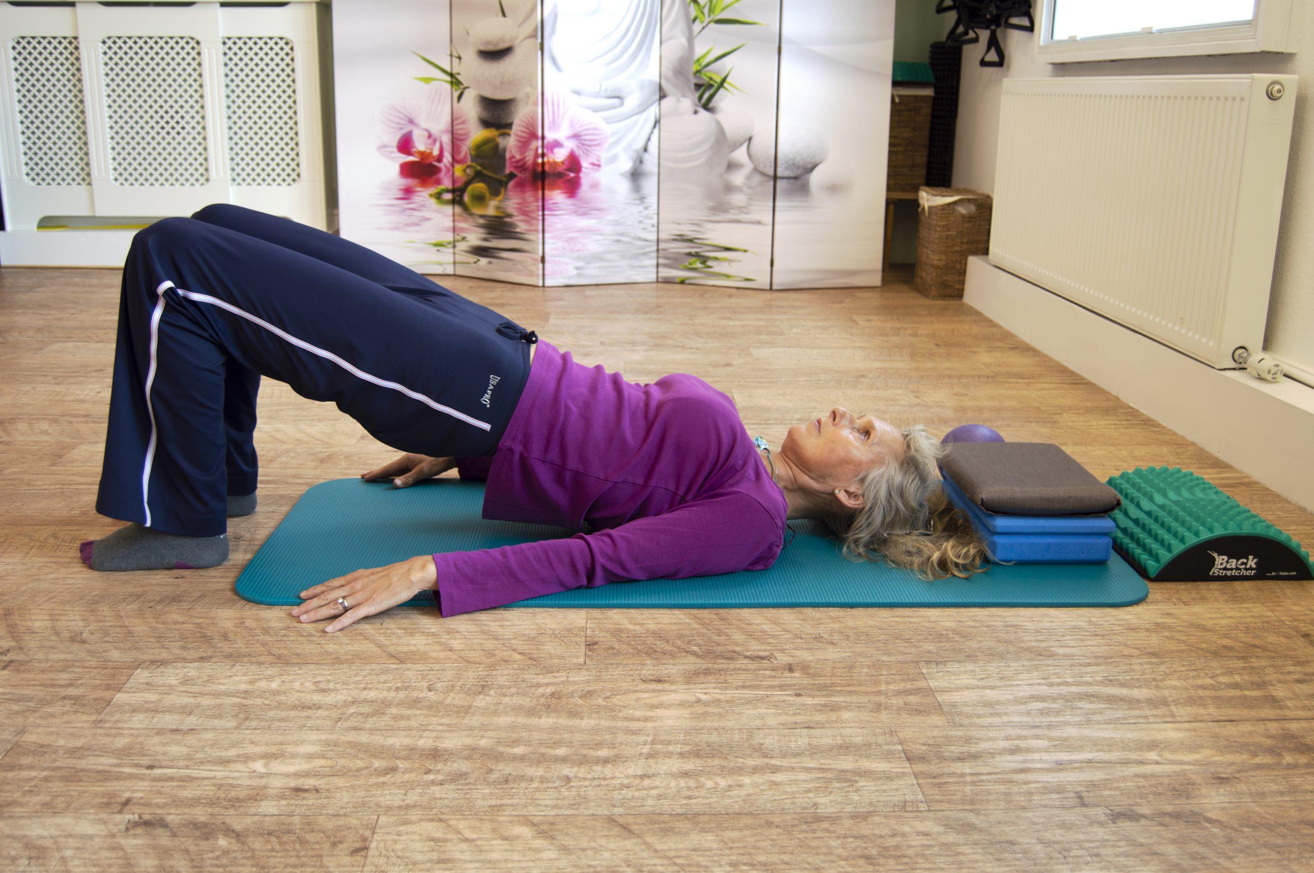 Lying Pilates move